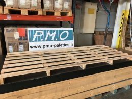 Palette sur mesure 1000*2500 pour le transport de plaque d'amiante